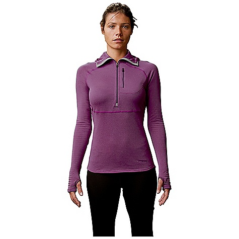 Free Shipping. Patagonia Women's Capilene 4 EW 1-4 Zip Hoody DECENT FEATURES of the Patagonia Women's Capilene 4 Ew 1/4 Zip Hoody Polartec Power Dry High Efficiency Fabric is Designed with a Smooth Jersey Face for Easy Layering Open Grid Next to Skin Provides Superior Warmth, Breath Ability and Moisture-Wicking Performance Spandex Added for Stretch and Ease of Movement Self-Fabric Hood with Anatomic Shaping and High-Collar for Added Coverage and Warmth Elongated Center-Front Zipper Allows Deep Venting Left Chest Zipper Pocket for Easy Storage Integrated Thumb Loops for Secure Coverage The SPECS Slim fit Weight: 7.2 oz / 204 g 3.7 oz Polartec Power Dry High Efficiency 91% Polyester (30% Recycled), 9% Spandex, with Gladiodor Odor Control for The Garment This product can only be shipped within the United States. Please don't hate us. - $119.00