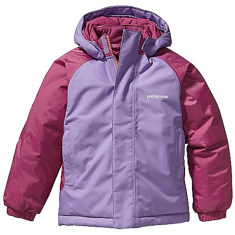 On Sale. Free Shipping. Patagonia Baby Snow Pile Jacket DECENT FEATURES of the Patagonia Baby Snow Pile Jacket Durable 2-layer polyester H2No Performance Standard shell with a waterproof/breathable barrier fully-taped seams and Deluge DWR finish 200-g Quallofil insulation stays dry even when wet Three-panel hood with elasticized gusset under brim for secure fit Raglan sleeves for mobility warm and comfortable fleece lining on collar Full-front zip with external wind flap and hook-and-loop closure two set-in zippered hand warmer pockets all with reflective webbing pulls Back seaming with reflective trim Elasticized sleeve cuff and back hem allow mobility with layers Grow-fit feature in sleeves adds 1 1/2in. for extended wear hand-me-down ID label The SPECS Relaxed fit Weight: 13 oz / 369 g H2No Performance Standard Shell: 2-layer, 4.2-oz 100% polyester ripstop Contrast: 2.5-layer, 2.6-oz 50-denier 100% nylon ripstop Shell and contrast have a waterproof/breathable barrier Lining: 2-oz 100% polyester plain weave. All with a Deluge DWR finish Insulation: 200-g Quallofil 100% polyester This product can only be shipped within the United States. Please don't hate us. - $82.99