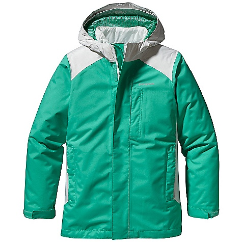 On Sale. Free Shipping. Patagonia Girls' 3-In-1 Jacket DECENT FEATURES of the Patagonia Girls' 3-In-1 Jacket H2No Performance Standard 2-layer polyester shell and durable 2.5-layer nylon contrast with a waterproof/breathable barrier and Deluge DWR finish fully-taped seams 150-g Thermo green insulation stays warm even when wet Outer shell: Three-panel hood construction with slightly extended brim and internal elasticized gusset for a stay-put fit full-zip with external storm flap and a hook-and-loop closure and mini internal zipper cover Shell with contrast yoke and side panel detail and a mini-powder skirt to seal out snow powder skirt attaches to Snowbell Pants Covered zippered chest pocket two hand warmer pockets with reflective webbing pulls one internal draw cord at hem adjustable hook-and-loop closure at sleeve opening Collar lined with brushed polyester jersey and a spandex binding finish liner is quilted for a street-savvy look Girl-friendly fit Hand-me-down ID label The SPECS Regular fit Weight: 37.8 oz / 1072 g H2No Performance Standard shell: 2-layer, 4.2-oz 100% polyester ripstop Shell Contrast: 2.5-layer, 2.6-oz 50-denier nylon ripstop Both with a waterproof/breathable barrier and a Deluge DWR finish Shell Lining: 100% polyester mesh Zip-out jacket and lining: 2-oz 100% polyester plain weave Both with a Deluge DWR finish Insulation: 150-g Thermo green 100% polyester (90% recycled) This product can only be shipped within the United States. Please don't hate us. - $170.99