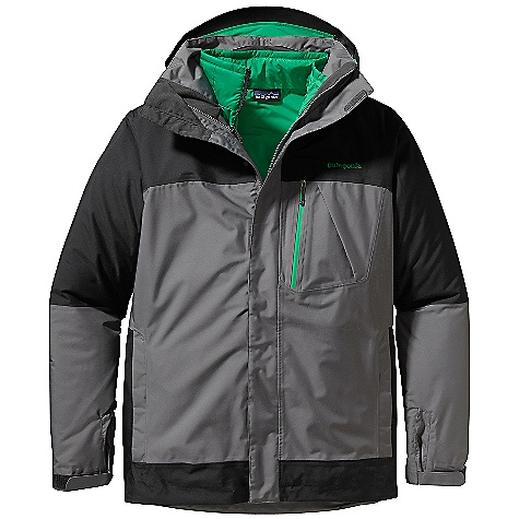 Snowboard On Sale. Free Shipping. Patagonia Men's 3-In-1 Snowshot Jacket DECENT FEATURES of the Patagonia Men's 3-in-1 Snowshot Jacket Durable H2No Performance Standard 2-layer polyester with waterproof/breathable protection slick mesh lining keeps you warm and wicks away moisture Versatile and lightweight polyester zip-out shell with warm 60-g Thermo green insulation liner with quilted construction for less bulk Removable, helmet-compatible, 2-way-adjustable hood with laminated visor for optimal visibility in bad conditions tall collar protects neck and face even with hood down Pit zips quickly release heat updated low-profile cuff with pleated gusset secures over or under gloves Powder skirt with snap secures webbing loop at center back and connects to any Patagonia Snow pants RECCO avalanche rescue reflector embedded in back of neck The SPECS Relaxed fit Weight: 45.6 oz / 1293 g Shell: H2No Performance Standard shell: 2-layer, 5.6-oz 150-denier 100% polyester with a waterproof/breathable barrier and a Deluge DWR (durable water repellent) finish Lining: 100% polyester mesh Zip-out jacket: 1.4-oz 20-denier 100% polyester mini-ripstop Zip-out jacket lining: 2-oz 100% polyester plain weave Both with a Deluge DWR finish Powder Skirt: 2-oz 100% polyester plain weave Insulation: 60-g Thermo green 100% polyester (90% recycled) This product can only be shipped within the United States. Please don't hate us. - $258.99