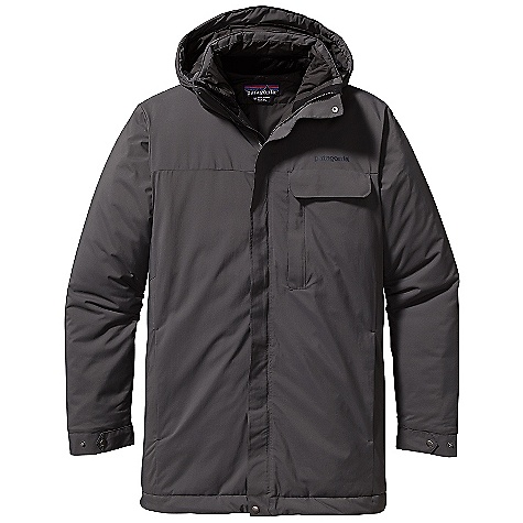 On Sale. Free Shipping. Patagonia Men's Conifer Parka DECENT FEATURES of the Patagonia Men's Conifer Parka Windstopper 100% Nylon Shell Fabric Insulated with 100-g Primaloft is Warm, Light, Compressible, Windproof and Highly Weather-Resistant Insulated Parka with a 2-Way Zip, Stand-Up Collar, Storm Flap, Polyester Brushed Jersey on Chin Flap and Collar Stand, and Removable Insulated Hood Vertical, Zippered Left-Chest Pocket with Welt Flapped Drop-In Horizontal Left-Chest Pocket Welted, Zippered Handwarmer Pockets Zippered Internal Right-Chest Pocket Fully Adjustable, Insulated, Removable Hood Secures with Zipper and Snaps Adjustable Cuffs Have Self-Fabric, Snapped Tabs Hem Adjusts with Elasticized Drawcord Accessed Through Handwarmer Pockets Lower Hip Length The SPECS Regular fit Weight: 28.3 oz / 802 g Shell: 2-Layer, 2.9 oz Windstopper 100% Nylon Insulation: 100-g Primaloft Eco 100% Polyester Lining: 2 oz 100% Polyester Plain Weave This product can only be shipped within the United States. Please don't hate us. - $278.99