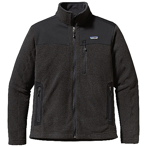 On Sale. Free Shipping. Patagonia Men's Finmark Jacket DECENT FEATURES of the Patagonia Men's Finmark Jacket Made of a recycled polyester/wool blend with a heathered face and a soft polyester fleece interior Sonic-welded seam construction with reinforced micro-stitching reduces seam bulk Yoke and handwarmer pockets with contrast stretch-woven trim Double fabric stand-up collar Full-length zip has a wind flap and zipper garage Zippered pockets: two handwarmers and chest pocket with zipper garage Hip length The SPECS Regular fit 8-oz 72% all-recycled polyester fleece, 28% wool Trim: 4.9-oz 95% polyester, 5% spandex Weight: 16.7 oz / 473 g This product can only be shipped within the United States. Please don't hate us. - $128.99