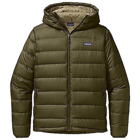 On Sale. Free Shipping. Patagonia Men's Hi-Loft Down Sweater Hoody DECENT FEATURES of the Patagonia Men's Hi-Loft Down Sweater Hoody Lightweight polyester shell with a Deluge DWR finish bigger channels and more 800-fill-power premium goose down than regular down sweater Low-profile adjustable hood seals out wind Two zippered hand warmer pockets and one zippered internal pocket for storage Center-front zipper with storm flap seals out weather Draw cord hem seals out cold and spindrift Stuff sack included The SPECS Regular fit Weight: 15.7 oz / 445 g Shell and Lining: 1.4-oz 22-denier 100% polyester ripstop with a Deluge DWR (durable water repellent) finish Insulation: 800-fill-power premium European goose down This product can only be shipped within the United States. Please don't hate us. - $166.99