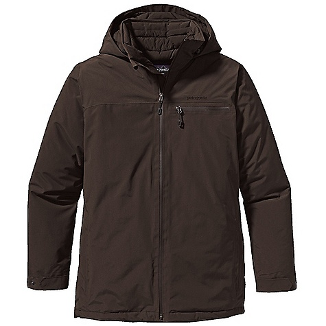 Free Shipping. Patagonia Men's Interlodge Down Jacket DECENT FEATURES of the Patagonia Men's Interlodge Down Jacket Durable 2-layer recycled nylon Gore-Tex fabric protects against cold and wet snow Diamond-quilted interior with warm and highly compressible 600-fill power premium European goose down 2-way watertight coated zipper with wind flap fully adjustable, insulated hood tall stand-up collar with baffle at back of neck brushed polyester jersey on chin guard Pockets: Welted zippered hand warmers lined with brushed polyester jersey horizontal left chest drop-in pocket features an internal padded electronics pocket with cable routing internal right chest zippered pocket internal left-torso mesh pocket Adjustable cuffs with self-fabric snap tabs hem adjusts with elasticized draw cord accessed through hand warmer pockets Lower hip length The SPECS Regular fit Weight: 38.6 oz / 1094 g Shell: 2-layer, 4.3-oz 70-denier Gore-Tex fabric with a DWR (durable water repellent) finish Lining: 2-oz 100% polyester plain weave Insulation: 600-fill-power premium European goose down This product can only be shipped within the United States. Please don't hate us. - $599.00