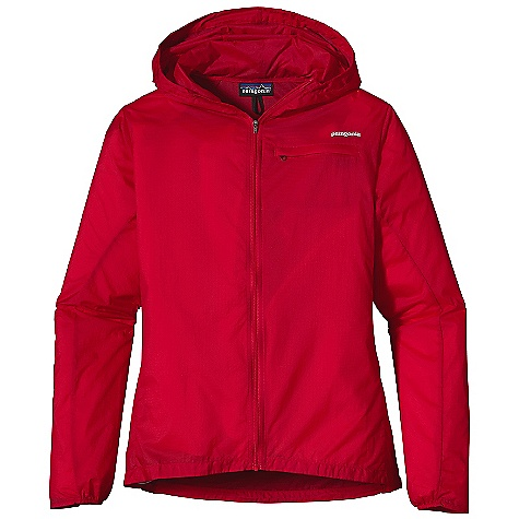 Free Shipping. Patagonia Women's Houdini Jacket DECENT FEATURES of the Patagonia Women's Houdini Jacket Featherweight 100% nylon ripstop with a Deluge DWR finish Zippered rear pocket converts to stuff sack with a reinforced carabiner clip loop Hood adjusts in one pull and won't block peripheral vision Durable half-elastic cuffs draw cord hem Reflective logos at left chest and center back neck Can be be worn over base layers and light midlayers The SPECS Slim fit Weight: 3.6 oz / 102 g 1.2-oz 10-denier 100% nylon ripstop with a Deluge DWR finish This product can only be shipped within the United States. Please don't hate us. - $99.00