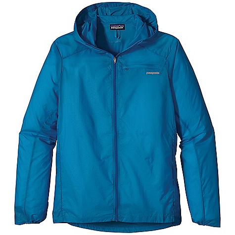 Free Shipping. Patagonia Men's Houdini Jacket DECENT FEATURES of the Patagonia Men's Houdini Jacket Featherweight 100% nylon ripstop with a Deluge DWR finish Zippered chest pocket converts to stuff sack with a reinforced carabiner clip-in loop Hood adjusts in one pull and won't block peripheral vision Durable half-elastic cuffs drawcord hem Reflective logos at left chest and center back neck Can be be worn over baselayers and light midlayers Slight drop tail The SPECS Slim fit Weight: 4 oz / 113 g 1.2-oz 10-denier 100% nylon ripstop with a Deluge DWR finish This product can only be shipped within the United States. Please don't hate us. - $99.00