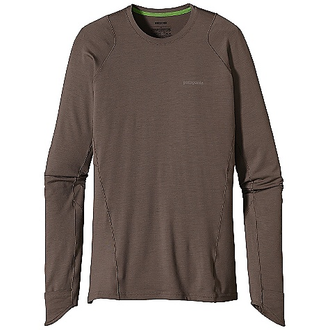 On Sale. Free Shipping. Patagonia Men's L-S Thermal Flyer Shirt DECENT FEATURES of the Patagonia Men's Thermal Flyer Long Sleeve Shirt Merino wool/polyester/spandex blend is stronger and more durable than 100% wool, has a softer hand, naturally controls odor and wicks perspiration 18.9-micron-gauge yarn and jersey-knit construction with spandex adds stretch Minimal merrow-stitched seams are soft against skin Shaped cuff converts to a mitt for hand coverage Reflective logos at left chest and center back neck The SPECS Slim fit Weight: 9.2 oz / 261 g 6.3-oz (215-g) 77% chlorine-free merino wool 18% polyester (100% recycled) 5% spandex This product can only be shipped within the United States. Please don't hate us. - $70.99