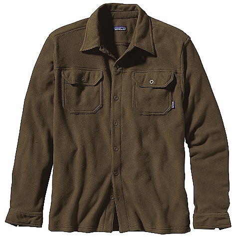 Free Shipping. Patagonia Men's Pique Fleece Shirt DECENT FEATURES of the Patagonia Men's Pique Fleece Shirt Soft polyester pique knit face with a fleece interior Traditional button-placket shirt with two flap, single-button chest pockets Supplex nylon reinforces underside of collar, placket and patch pockets Contrast bar tacks The SPECS Regular fit Weight: 15 oz / 425 g 6-oz 100% polyester fleece Trim: 100% Supplex nylon This product can only be shipped within the United States. Please don't hate us. - $99.00