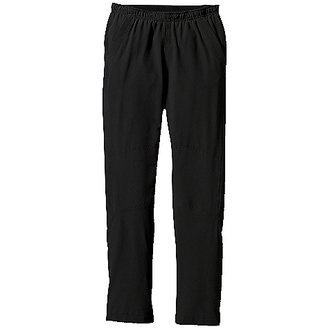 Fitness Free Shipping. Patagonia Men's Traverse Pants DECENT FEATURES of the Patagonia Men's Traverse Pants Fast drying stretch-woven recycled polyester with 4-way stretch and a Deluge DWR finish Double needle stitched waistband with brushed-elastic interior and drawcord Drop-in handwarmer pockets; zippered back pocket on right side 4-panel construction with gusseted crotch and tapered leg for athletic fit Reinforced knee panel for extra warmth Reflective zippers at hem unzip for a straight leg fit over running shoes The SPECS Regular fit Weight: 10.8 oz / 306 g 4.7-oz 70-denier 93% all-recycled polyester 7% spandex with 4-way mechanical stretch and a Deluge DWR finish This product can only be shipped within the United States. Please don't hate us. - $89.00