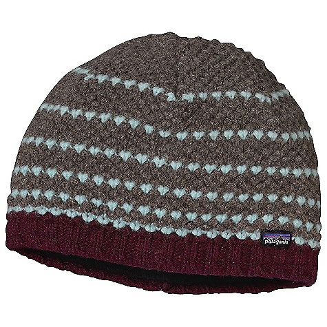 Entertainment Patagonia Women's Beatrice Beanie DECENT FEATURES of the Patagonia Women's Beatrice Beanie Merino Wool/Nylon Blend is Warm and Comfortable Fully Fleece-Lined for Next-To-Forehead Comfort and Even Greater Warmth Great Textural Knit The SPECS Weight: 3.1 oz / 87 g 80% Chlorine-Free Merino Wool, 20% Nylon Lining: 5.2 oz 100% Polyester Fleece This product can only be shipped within the United States. Please don't hate us. - $39.00