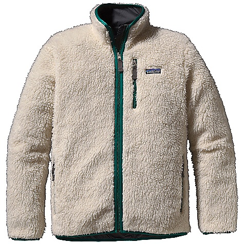 On Sale. Free Shipping. Patagonia Men's Classic Retro-X Cardigan DECENT FEATURES of the Patagonia Men's Classic Retro-X Cardigan Soft 1/2in.-pile polyester fleece lined with nylon provides windproof protection Stand-up collar and full-length zipper with internal wind flap Zippered Pockets: Chest and two hand warmers Spandex binding on the collar, front zip, cuffs and hem Hip length The SPECS Regular fit Weight: 27.7 oz / 785 g 11-oz Synchilla 100% polyester (solids: 75% recycled prints: 70% recycled) 1/2in.-pile Lining: 2-oz 100% nylon Trim: 100% Supplex nylon This product can only be shipped within the United States. Please don't hate us. - $142.99