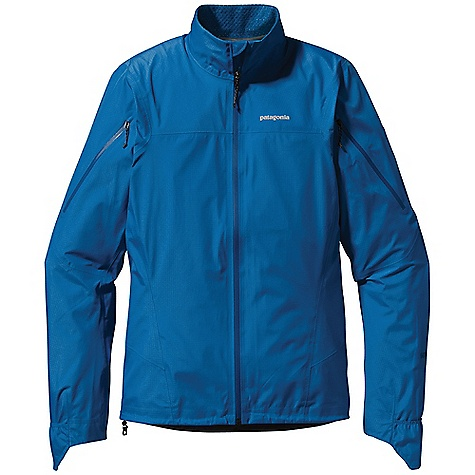 Free Shipping. Patagonia Men's Light Flyer Jacket DECENT FEATURES of the Patagonia Men's Light Flyer Jacket 3-layer Gore-Tex Active 100% nylon with a DWR finish for durably waterproof/breathable and windproof protection Self-fabric stand-up collar is lined with lightweight mesh Upper arm zippers can be unzipped to facilitate air flow through jacket toward back venting system Articulated sleeve with fold-over cuff converts to mitt for wet/cold weather protection Waterproof pocket at center back holds essentials Low-profile drawcord at hem Reflective logo on chest and center back neck The SPECS Slim fit Weight: 9.1 oz / 258 g 3-layer, 3.1-oz 30-denier 100% nylon Gore-Tex Active fabric with a DWR finish This product can only be shipped within the United States. Please don't hate us. - $279.00