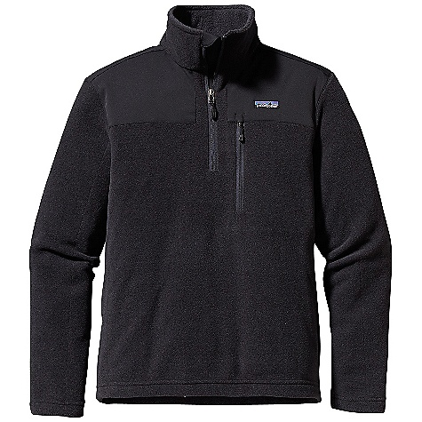 On Sale. Free Shipping. Patagonia Men's Finmark 1-4 Zip DECENT FEATURES of the Patagonia Men's Finmark 1/4 Zip Made of a recycled polyester/wool blend with a heathered face and a soft polyester fleece interior Sonic-welded seam construction with reinforced micro-stitching reduces seam bulk Yoke with contrast stretch-woven trim and forward shoulder seams Double fabric stand-up collar 1/4-zip has a wind flap and zipper garage Chest pocket (with zipper garage) uses glued construction Hip length The SPECS Regular fit 8-oz 72% all-recycled polyester fleece, 28% wool Trim: 4.9-oz 95% polyester, 5% spandex Weight: 14.3 oz / 405 g This product can only be shipped within the United States. Please don't hate us. - $106.99