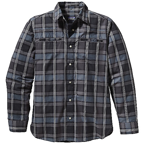 Free Shipping. Patagonia Men's L-S Wagner Shirt DECENT FEATURES of the Patagonia Men's Long Sleeve Wagner Shirt Lightweight, breathable organic cotton with raised dobby texture Western-style button-front shirt with curved front yokes and pearl zed snap buttons Two double-welted drop-in chest pockets Shirttail hem The SPECS Slim fit Weight: 8.5 oz / 240 g 3.3-oz 100% organic cotton woven dobby This product can only be shipped within the United States. Please don't hate us. - $79.00