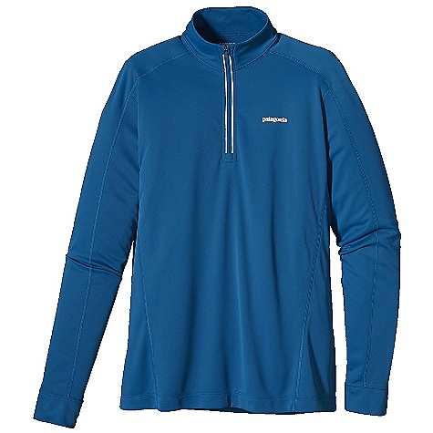 On Sale. Free Shipping. Patagonia Men's Fore Runner 1-4 Zip DECENT FEATURES of the Patagonia Men's Fore Runner 1/4 Zip Super soft polyester double knit fabric is highly breathable, wicks moisture and provides 30-UPF sun protection Offset shoulder seams for minimum chafe 2 1/4in. collar protects neck from drafts and doesn't bind Reflective zipper allows for venting Reflective logos at left chest and center-back neck The SPECS Slim fit 3.5-oz 100% polyester double knit with 30-UPF sun protection Gladiodor odor control for the garment Weight: 5.9 oz / 167 g This product can only be shipped within the United States. Please don't hate us. - $34.99