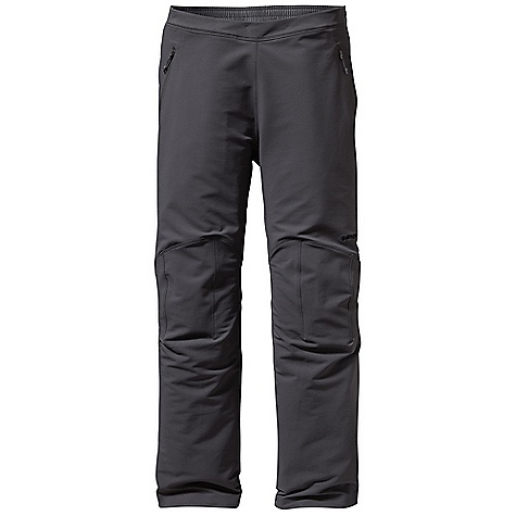 Free Shipping. Patagonia Men's Guide Pant DECENT FEATURES of the Patagonia Men's Guide Pant Polar Tec Power Shield stretch-woven nylon/polyester soft-shell fabric is highly breathable, durable, and wind- and water-resistant Partially elasticized pull-on waistband with internal draw cord adjustment Brushed interior for next-to-skin comfort Two hand warmer pockets and one right rear drop-in pocket have zippers with a DWR finish Articulated knees for mobility Alpine boot-compatible tapered cuffs with metal eyelets for tie-down loops The SPECS Regular fit Weight: 16.5 oz / 468 g 7.1-oz, Polar Tec Power Shield stretch-woven 46% nylon 46% polyester 8% spandex, with a Deluge DWR (durable water repellent) finish This product can only be shipped within the United States. Please don't hate us. - $179.00