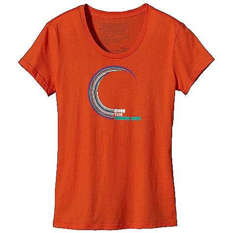 Patagonia Women's Save The Waves Curl T-Shirt DECENT FEATURES of the Patagonia Women's Save The Waves Curl T-Shirt Screen-print inks are PVC- and phthalate-free Taped shoulder seams for comfort 40 singles, ringspun 100% organic cotton for super soft feel Artist: Blaine Fontana The SPECS Anika fit Weight: 4 oz / 113 g 4-oz 100% organic cotton This product can only be shipped within the United States. Please don't hate us. - $35.00