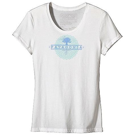 Patagonia Women's Tree Logo T-Shirt DECENT FEATURES of the Patagonia Women's Tree Logo T-Shirt Screen-print inks are PVC- and phthalate-free Taped shoulder seams for comfort 40 singles, ringspun 100% organic cotton for super soft feel Artist: Blaine Fontana The SPECS Anika fit Weight: 4 oz / 113 g 4-oz 100% organic cotton This product can only be shipped within the United States. Please don't hate us. - $35.00