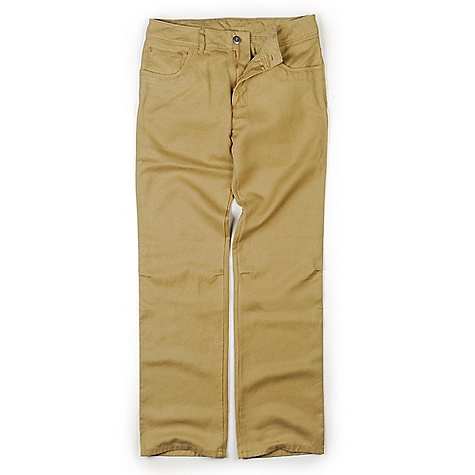 Free Shipping. Patagonia Men's Hemp Overstone Pant DECENT FEATURES of the Patagonia Men's Hemp Overstone Pant Hemp/polyester blend has the soft hand of hemp and the durability of polyester 5-pocket-jeans styling with bartack reinforcements on pocketing Rear yoke and belt loops Bar-button closure and zip fly Gusseted crotch, articulated knees and a relaxed fit for increased mobility The SPECS Relaxed fit Inseam: 32in. Weight: 20.3 oz / 575 g 9.7-oz 77% hemp, 23% polyester twill This product can only be shipped within the United States. Please don't hate us. - $89.00