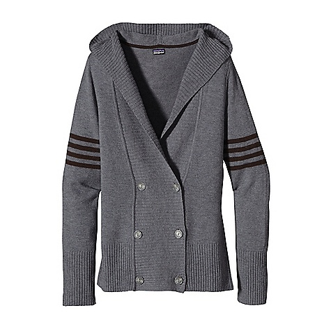 On Sale. Free Shipping. Patagonia Women's Pescadera Hoody DECENT FEATURES of the Patagonia Women's Pescadera Hoody 9-gauge wool/nylon jersey knit blend Cardigan-style hoody with rib-knit on placket and hood V-neck, double-breasted cardigan Four stripe detail on upper sleeves Hip length The SPECS 9-gauge 80% lambswool, 20% nylon Weight: 13.1 oz / 371 g Regular fit This product can only be shipped within the United States. Please don't hate us. - $80.99