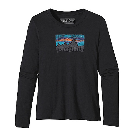 Patagonia Women's L-S Vintage 73 Logo T-Shirt DECENT FEATURES of the Patagonia Women's Long Sleeve Vintage 73 Logo T-Shirt Screen-print inks are PVC- and phthalate-free Taped shoulder seams for comfort 40 singles, ring spun 100% organic cotton for super soft feel Artist: Patagonia Logo wear Crew The SPECS Boy fit Weight: 4.5 oz / 127 g 4-oz 100% organic cotton This product can only be shipped within the United States. Please don't hate us. - $45.00