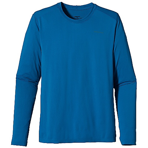 On Sale. Free Shipping. Patagonia Men's L-S Gamut Shirt DECENT FEATURES of the Patagonia Men's Gamut Long Sleeve Shirt Polyester/spandex jersey and mesh knit provide maximum breathability, chafe-free comfort and great fit Feather weight fabric has 25-UPF sun protection Tag free for comfort The SPECS Slim fit Weight: 5 oz / 142 g 3.7-oz 95% polyester (75% recycled) 5% spandex seamless variable knit with 25-UPF sun protection and Polygiene permanent odor control This product can only be shipped within the United States. Please don't hate us. - $34.99