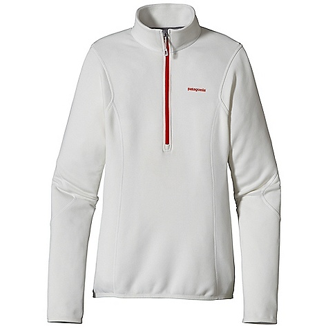 Free Shipping. Patagonia Women's Piton Pullover DECENT FEATURES of the Patagonia Women's Piton Pullover Polartec Power Dry fabric provides superior stretch, warmth and moisture management durable, smooth jersey face slides easily beneath layers Front zipper allows for easy pull over and venting when needed Nylon elastic cuffs and hem seals out wind No shoulder seams for pack-wearing comfort The SPECS Slim fit Weight: 7.2 oz / 204 g 5.9-oz Polartec Power Dry 94% polyester (54% recycled) 6% spandex This product can only be shipped within the United States. Please don't hate us. - $99.00
