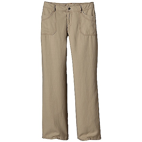 Free Shipping. Patagonia Women's Hemp Overstone Pant DECENT FEATURES of the Patagonia Women's Hemp Overstone Pant Durable, functional hemp/polyester twill blend Waistband with belt loops, zip fly and button closure Pockets: Two front drop-in, two back drop-in Stitch detailing on front and back pockets Low rise, straight leg The SPECS Regular fit Inseam: 32in. Weight: 19.2 oz / 544 g 9.7-oz 77% hemp, 23% polyester twill This product can only be shipped within the United States. Please don't hate us. - $89.00
