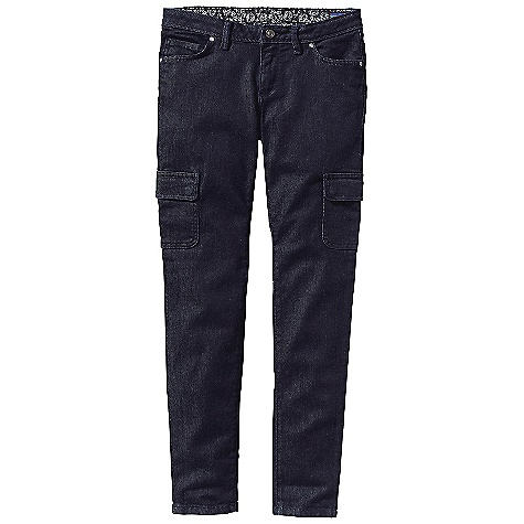 Free Shipping. Patagonia Women's Low Rise Cargo Jean DECENT FEATURES of the Patagonia Women's Low Rise Cargo Jean Organic cotton denim with stretch for fit and comfort Classic 5-pocket-jeans styling features our slimmest leg silhouette and two cargo pockets Waistband tab detail, zip fly with button shank closure Waistband lining and pocket bags are made of organic cotton Polyester twill with a bandanna-style indigo print The SPECS Slim fit Inseam: 32in. Dark Wash: 11.5-oz 98% organic cotton 2% spandex denim Grey Med Wash: 9.5-oz 99% organic cotton 1% spandex denim This product can only be shipped within the United States. Please don't hate us. - $89.00