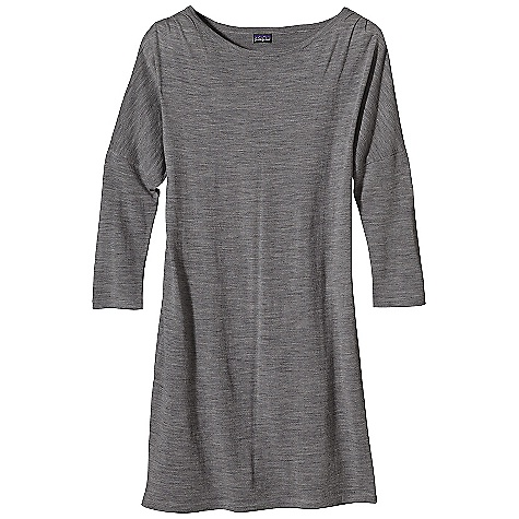 Entertainment On Sale. Free Shipping. Patagonia Women's Merino Sweater Dress DECENT FEATURES of the Patagonia Women's Merino Sweater Dress Soft, Fine-Gauge Merino Wool in a Jersey Knit Flattering Boat Neck 3/4-Length Sleeves Above-The-Knee Length The SPECS Regular fit Weight: 10.2 oz / 289 g 16-Gauge Merino Wool This product can only be shipped within the United States. Please don't hate us. - $82.99