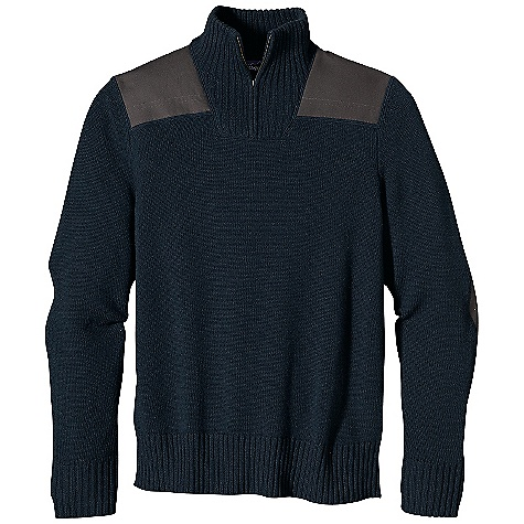 On Sale. Free Shipping. Patagonia Men's Forage Sweater DECENT FEATURES of the Patagonia Men's Forage Sweater Soft lambswool/nylon blend for durability, longevity and shape retention 1/4-zip pullover sweater with rib-knit funnel-neck collar, welted metal zipper and rib-knit on cuffs and hem Shoulders and elbows reinforced with 10-oz organic cotton canvas in tonal colors Heathered colors The SPECS Regular fit 5-gauge 80% wool, 20% nylon jersey knit Contrast: 10-oz 100% organic cotton washed canvas Weight: 24 oz / 680 g This product can only be shipped within the United States. Please don't hate us. - $106.99