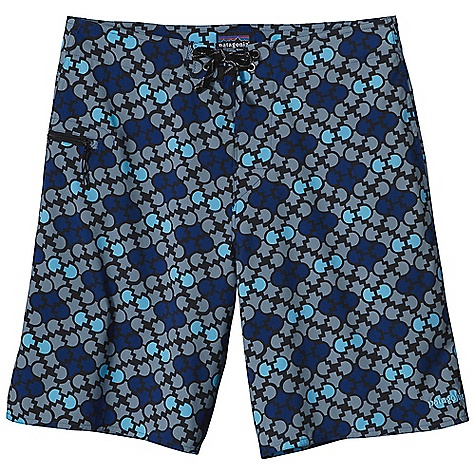 Surf Free Shipping. Patagonia Men's Stretch Planing Board Short DECENT FEATURES of the Patagonia Men's Stretch Planing Board Short Trimmer version of our tried-and-true Wave farer in a lightweight, quick drying polyester ripstop with a DWR finish and 50+ UPF sun protection Grown-on waistband flat-lying fly with a rubber button and ladder lock drawstring closure durable bartacked drawstring Self-draining pocket on right thigh has a noncorrosive, recyclable plastic zipper internal key loop and added zipper pull for ease of use Trim silhouette on thigh and leg opening adds mobility and better dry time Forward inseam at crotch eliminates skin chafe The SPECS Regular fit Weight: 3.7 oz / 105 g Outseam: 20in. 2.8-oz 100% polyester stretch ripstop with 50+ UPF sun protection and a DWR (durable water repellent) finish This product can only be shipped within the United States. Please don't hate us. - $79.00