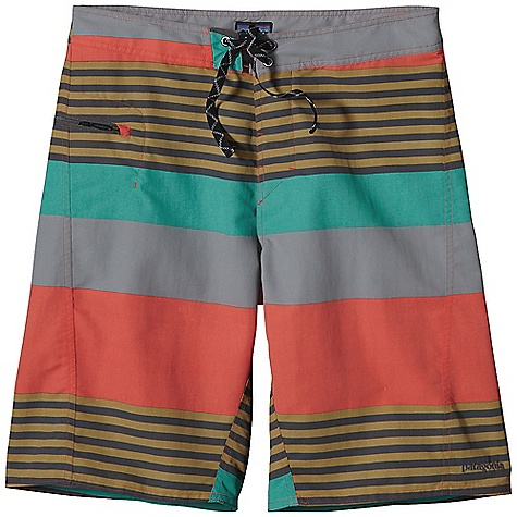 Surf The Patagonia Men's WavefArer Board Short has tons of Features that make it great for surfing, hiking, and any other outdoor thing you can think of. The pockets Are self draining and one of them has a key loop, which is great for hooking your keys onto. That's why it's called a key loop. If you think of other Uses for it, let me know. The water-resistant fabric is incredibly durable so you get more use out of it and you won't have to buy new shorts every few months. Unless you?re a Board short hoarder like me. Features of the Patagonia Men's WavefArer Board Short Durable and quick-drying Supplex nylon, with a DWR (durable water repellent) finish 3-piece-self-lined waistband contours to hip; flat-lying fly with a rubber button and ladder lock drawstring closure; durable bartacked drawstring; mesh gasket easily drains Self-draining pocket on right tHigh has a non corrosive, recyclable plastic zipper; internal key loop and added zipper pull for ease of use Forward inseam helps eliminates chafing New, slightly trimmer silhouette on tHigh, seat, and leg opening for ease of movement and better dry time - $22.99