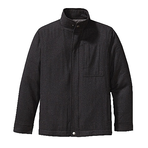 On Sale. Free Shipping. Patagonia Men's Felted Jacket DECENT FEATURES of the Patagonia Men's Felted Jacket Brushed recycled wool blend features heathered yarns jacket body has warm recycled polyester insulation and an easy-glide polyester lining Full-zip jacket with antique nickel zippers, external wind flap with snap, stand-up collar and adjustable snap cuffs Pockets: Welted hand warmers lined with brushed polyester jersey left-chest patch pocket with antique-nickel zipper Quilted interior keeps Thermo green insulation in place taffeta-lined sleeves for easy on/off Hip length The SPECS Regular fit Weight: 29.7 oz / 842 g 6.9-oz 60% all-recycled wool 30% polyester 10% nylon Lining: 2-oz 100% polyester plain weave Insulation: Body: 100-g Sleeves: 60-g Thermo green 100% polyester (90% recycled) This product can only be shipped within the United States. Please don't hate us. - $148.99