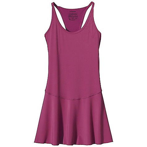 Entertainment Free Shipping. Patagonia Women's All Weather Dress DECENT FEATURES of the Patagonia Women's All Weather Dress Made of a durable and soft polyester/spandex blend with a breathable Air Flow mesh panel in the back to ventilate excess heat Wide straps accommodate a sports bra Non binding self-fabric neckline and arms wick moisture Single-layer dress is suitable for different undergarments, provides good coverage and full range of motion Integrated upper left chest pocket rear envelope pocket Colored reflective logo at hem and center back The SPECS Slim fit Weight: 5.6 oz / 159 g 5.6-oz 88% polyester, 12% spandex with 15-UPF sun protection Back Panel: 3.2-oz 100% polyester mesh This product can only be shipped within the United States. Please don't hate us. - $59.00