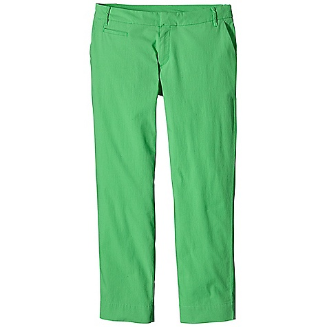 Free Shipping. Patagonia Women's Stretch All-Wear Capri DECENT FEATURES of the Patagonia Women's Stretch All-Wear Capri Stretchy, lightweight organic-cotton canvas capris with a slim fit and classic chino styling Has belt loops, hook closure and zippered fly Two slash pockets in front welted coin pocket on right front single-welt pockets in back The SPECS Slim fit Inseam: 27in. 5.4-oz 98% organic cotton 2% spandex This product can only be shipped within the United States. Please don't hate us. - $65.00
