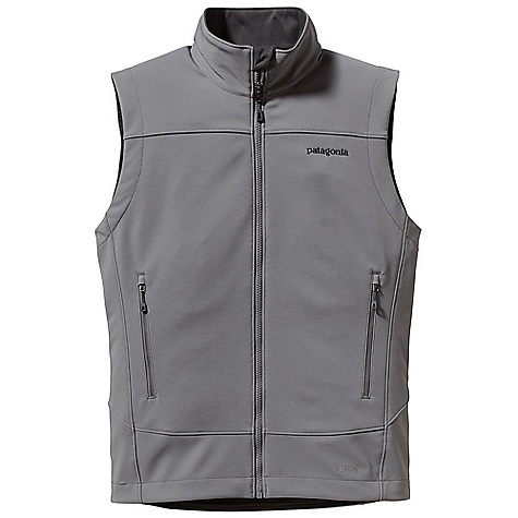 Free Shipping. Patagonia Men's Adze Vest DECENT FEATURES of the Patagonia Men's Adze Vest Polar Tec Windbloc stretch-woven polyester soft-shell fabric with a DWR finish stops wind and resists precip A fleece grid backer warms and wicks moisture Micro fleece-lined neck and wind flap for next-to-skin comfort Two harness- and pack-compatible hand warmer pockets and one internal chest pocket, all with reverse-coil zippers Draw cord hem The SPECS Regular fit Weight: 13.9 oz / 394 g 9-oz / Polartec Windbloc 93% polyester 7% spandex, with a DWR (durable water repellent) finish This product can only be shipped within the United States. Please don't hate us. - $119.00