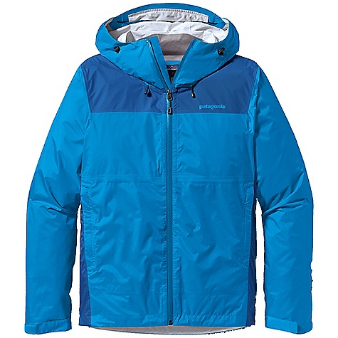 Free Shipping. Patagonia Men's Torrentshell Plus Jacket DECENT FEATURES of the Patagonia Men's Torrentshell Plus Jacket H2No Performance Standard waterproof/breathable 2.5-layer nylon ripstop, with shoulder and side panel reinforcements for high abrasion resistance 2-way-adjustable hood with laminated visor rolls down and stows Micro fleece-lined neck provides comfort and protects waterproof/breathable barrier Watertight-coated center-front zipper with internal storm flap Two welted hand warmer pockets with DWR-treated zippers, internal drop-in mesh pocket shell packs into self-stuff hand warmer pocket with carabiner clip-in loop Venting pit zippers with welted exterior storm flap and DWR-treated zips Self-fabric hook-and-loop cuff closures and adjustable draw cord hem seal out moisture The SPECS Regular fit Weight: 11.9 oz / 337 g H2No Performance Standard shell: 2.5-layer, 2.6-oz / 50-denier 100% nylon ripstop with a waterproof/breathable barrier and a Deluge DWR (durable water repellent) finish Reinforcement: H2No Performance Standard 2.5-layer, 2.5-oz / 40-denier 100% nylon ripstop with a waterproof/breathable barrier and a Deluge DWR finish This product can only be shipped within the United States. Please don't hate us. - $169.00