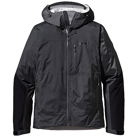 Free Shipping. Patagonia Men's Torrentshell Stretch Jacket DECENT FEATURES of the Patagonia Men's Torrentshell Stretch Jacket H2No Performance Standard waterproof/breathable 2.5-layer nylon ripstop shell, with 2.5-layer stretch panels in arms and across shoulders Helmet-compatible, 2-way-adjustable hood with laminated visor rolls down and stows Micro fleece-lined neck provides comfort and protects waterproof/breathable barrier Gusseted underarm panels let you reach without raising the jacket Watertight-coated center-front zipper with internal storm flap Two zippered hand warmer pockets and one left chest pocket all with watertight-coated zippers and zipper garages Venting pit zips with watertight-coated 2-way zippers self-fabric hook and-loop cuff closures and adjustable draw cord hem seal out moisture The SPECS Regular fit Weight: 13.7 oz / 388 g H2No Performance Standard shell: 2.5-layer, 2.4-oz / 40-denier 100% nylon ripstop with a waterproof/breathable barrier and a Deluge DWR (durable water repellent) finish Reinforcement: 2.5-layer, 4-oz / 40-denier 100% nylon with mechanical stretch, a waterproof/breathable barrier and Deluge DWR finish This product can only be shipped within the United States. Please don't hate us. - $199.00