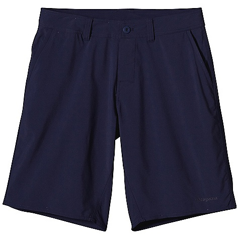 Free Shipping. Patagonia Men's Cienega Short DECENT FEATURES of the Patagonia Men's Cienega Short Made of a Lightweight, Stretchy Polyester/Nylon Blend in Easy-Wear Yarn Dyes and Solids Shorts with Flat-Front Chino Styling Zip Fly with Button Closure and Belt Loops Pockets: Front, Slash with Mesh Pocket Bags Back, Drop-In with Mesh Pocket Bags Buttoned Pocket on Right Rear The SPECS Regular fit Inseam: 11in. 3.9 oz 51% Polyester, 49% Nylon This product can only be shipped within the United States. Please don't hate us. - $79.00