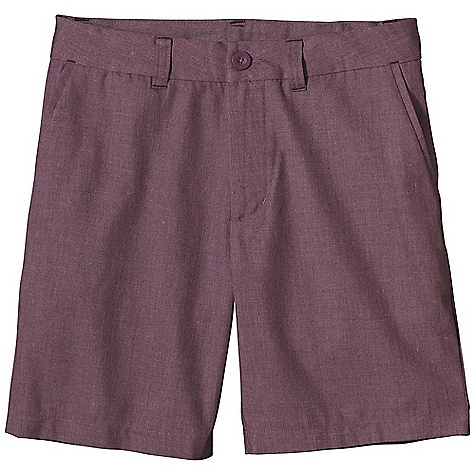 Free Shipping. Patagonia Men's Postmaster Short DECENT FEATURES of the Patagonia Men's Postmaster Short Made of a lightweight and durable organic cotton/polyester twill fabric Shorts with flat-front chino styling belt loops with contrast bartacks zip fly with button closure Pockets: Two front, slash with contrast bartacks two rear, drop-in pockets with contrast bartacks right rear pocket with button closure The SPECS Regular fit Inseam: 8in. 6-oz 65% all-recycled polyester/35% organic cotton twill This product can only be shipped within the United States. Please don't hate us. - $65.00