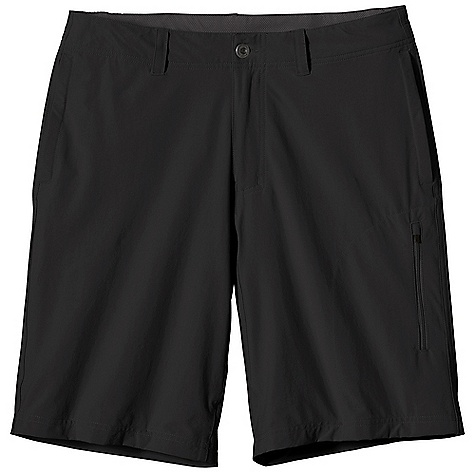 Free Shipping. Patagonia Men's Quandary Short DECENT FEATURES of the Patagonia Men's Quandary Short Lightweight stretch-woven nylon/spandex blend with a Deluge DWR finish and 40-UPF sun protection Shorts with flat-front styling belt loops zip fly with button closure Pockets: Vertical, on-seam side pockets two welted rear left thigh zippered pocket Gusseted crotch for ease of movement The SPECS Regular fit Weight: 7.9 oz / 224 g Inseam: 10in. 4.5-oz 96% nylon/4% spandex with a Deluge DWR (durable water repellent) finish and 40-UPF sun protection This product can only be shipped within the United States. Please don't hate us. - $69.00