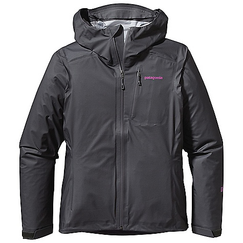 Free Shipping. Patagonia Women's M10 Jacket DECENT FEATURES of the Patagonia Women's M10 Jacket H2No Performance Standard shell is built with 3-layer waterproof/breathable nylon ripstop with a Deluge DWR finish Full-zip jacket has watertight-coated zipper with a Deluge DWR finish Single-pull, adjustable helmet-compatible hood with laminated visor Micro fleece-lined neck and chin for comfort Exterior zippered left chest pocket has watertight-coated zipper with a Deluge DWR finish Garment self stuffs into chest pocket with carabiner clip-in loop Self-fabric hook-and-loop cuff closures draw cord hem The SPECS Regular fit Weight: 7.1 oz / 201 g H2No Performance Standard Shell: 3-layer, 2.2-oz 15-denier 100% nylon ripstop with a waterproof/breathable barrier and a Deluge DWR (durable water repellent) finish This product can only be shipped within the United States. Please don't hate us. - $379.00