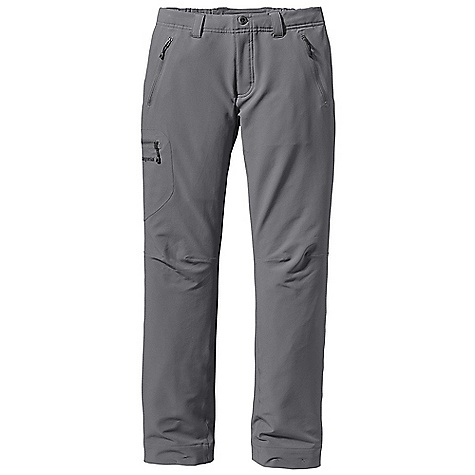 Free Shipping. Patagonia Women's Simple Guide Pant DECENT FEATURES of the Patagonia Women's Simple Guide Pant Lightweight, breathable, wind- and abrasion-resistant stretch-woven soft-shell fabric, treated with a Deluge DWR finish, wicks moisture and dries quickly Separating, partially elasticized waistband with sturdy metal bar-button, zippered fly and belt loops Pockets: two hand warmers, right thigh cargo, and right rear All with reverse-coil zippers treated with a Deluge DWR finish Articulated knees for full mobility Technical, tapered fit The SPECS Slim fit Weight: 14.1 oz / 400 g 6.2-oz 91% all-recycled polyester, 9% spandex double weave, with a Deluge DWR (durable water repellent) finish This product can only be shipped within the United States. Please don't hate us. - $99.00
