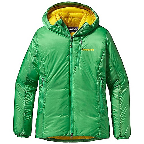 Free Shipping. Patagonia Women's Das Parka DECENT FEATURES of the Patagonia Women's Das Parka Lightweight, PU-coated nylon ripstop shell is durable, highly water-resistant, windproof and treated with a DWR finish Insulated throughout with high-loft 120-g PrimaLoft Synergy and an added layer of heat-trapping 60-g PrimaLoft One in the chest, abdomen and back for core warmth Helmet-compatible hood with visor and single-pull Draw cord to adjust overall volume and peripheral vision Full-length, 2-way zipper with internal, insulated wind flap and fold-over zipper garage for chin comfort Two zippered, insulated hand warmer pockets; two interior mesh drop-ins one exterior zippered chest Baffled internal collar, elasticized cuffs and discreet Draw cord at droptail hem seals in warmth Stuff sack included The SPECS Regular fit Weight: 20.5 oz / 581 g 1.2-oz 20-denier 100% nylon PU-coated ripstop with a DWR (durable water repellent) finish Insulation: 120-g PrimaLoft Synergy 100% polyester torso additional layer: 60-g PrimaLoft One 100% polyester This product can only be shipped within the United States. Please don't hate us. - $299.00