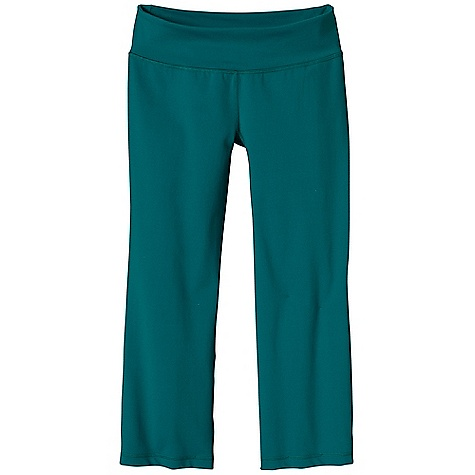 Fitness Free Shipping. Patagonia Women's Pliant Capri DECENT FEATURES of the Patagonia Women's Pliant Capri Soft synthetic knit is substantial and stretchy it holds its shape, wicks moisture and dries quickly Waistband is wide, flattering and has contrast lining on all colors except black Angled side seams, contouring through thigh and slight flare at hem provide a great fit Gusset for mobility Small pocket in waistband The SPECS Slim fit Inseam: 23in. 8.7-oz 84% nylon, 16% spandex This product can only be shipped within the United States. Please don't hate us. - $75.00