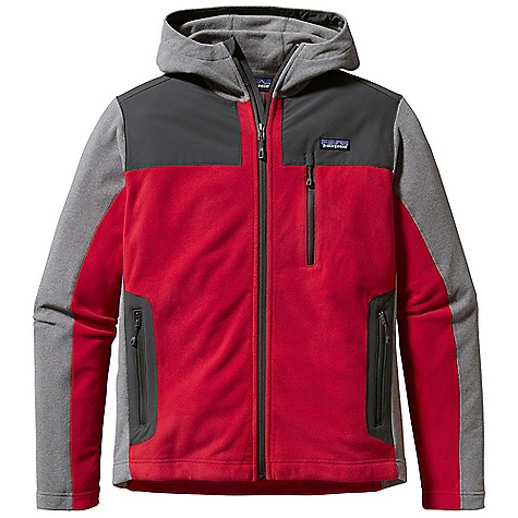 Free Shipping. Patagonia Men's Cedars Hoody DECENT FEATURES of the Patagonia Men's Cedars Hoody Made of Soft, Brushed Polyester Fleece with a Heathered Face Yoke, Internal Wind Flap and Handwarmer Pockets Have Durable Stretch-Woven Contrast Fabric 3-Panel Hood with Zip-Through Collar Provides a Relaxed, Yet Protective fit Full-Length Zip with Wind Flap and Zipper Garage Zippered Pockets: Two Handwarmers and Chest Pocket with Zipper Garage Flat Seams for Less Bulk Hip Length The SPECS Regular fit Weight: 16.8 oz / 475 g Body and Contrast: 5.9 oz 100% Polyester Heathered Fleece Shoulders, Wind Flap and Pockets: 4.5 oz 96% Nylon, 4% Spandex, with a DWR (Durable Water Repellent) Finish This product can only be shipped within the United States. Please don't hate us. - $149.00