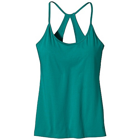Fitness Patagonia Women's Keyhole Spright Tank DECENT FEATURES of the Patagonia Women's Keyhole Spright Tank Soft, stretchy organic cotton and Tencel lyocell blend Strappy tank with a scoop neck Racerback with keyhole detail Full shelf-bra for support Hip length The SPECS Slim fit 4.8-oz 55% organic cotton, 45% Tencel lyocell jersey This product can only be shipped within the United States. Please don't hate us. - $39.00