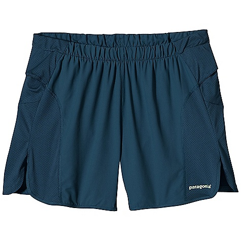 Free Shipping. Patagonia Men's Strider Pro Short DECENT FEATURES of the Patagonia Men's Strider Pro Short Made of smooth, ultra-lightweight and fast-drying polyester fabric with breathable air flow mesh side-seam panels Higher split opening eliminates leg chafe and promotes air flow Two front drop-in gel pockets Rear zippered pocket Colored reflective logo on front and back The SPECS Inseam: 5in. Regular fit Weight: 4.2 oz / 119 g Body: 2.3-oz 50-denier 100% polyester (50% recycled) microdobby Panels and Rear Pocket: 3.2-oz 100% polyester mesh With moisture-wicking performance and a Deluge DWR (durable water repellent) finish This product can only be shipped within the United States. Please don't hate us. - $55.00