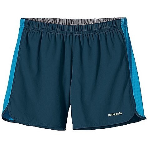 Patagonia Men's Strider Short 5IN DECENT FEATURES of the Patagonia Men's Strider Short 5IN Made of smooth, ultra-lightweight and fast-drying polyester fabric with breathable air flow mesh side-seam panels Covered elastic waistband with internal drawcord Lightweight built-in liner wicks moisture, dries quickly Internal envelope pocket Reflective logo at left hem The SPECS Inseam: 5in. Regular fit Weight: 3.9 oz / 111 g Body: 2.3-oz 50-denier 100% polyester (50% recycled) microdobby Panels: 3.1-oz 100% polyester mesh Mesh Inset: 3.1-oz 100% polyester (70% recycled) mesh Liner: 3.8-oz 100% microdenier polyester crepe With moisture-wicking performance and a Deluge DWR (durable water repellent) finish This product can only be shipped within the United States. Please don't hate us. - $39.00